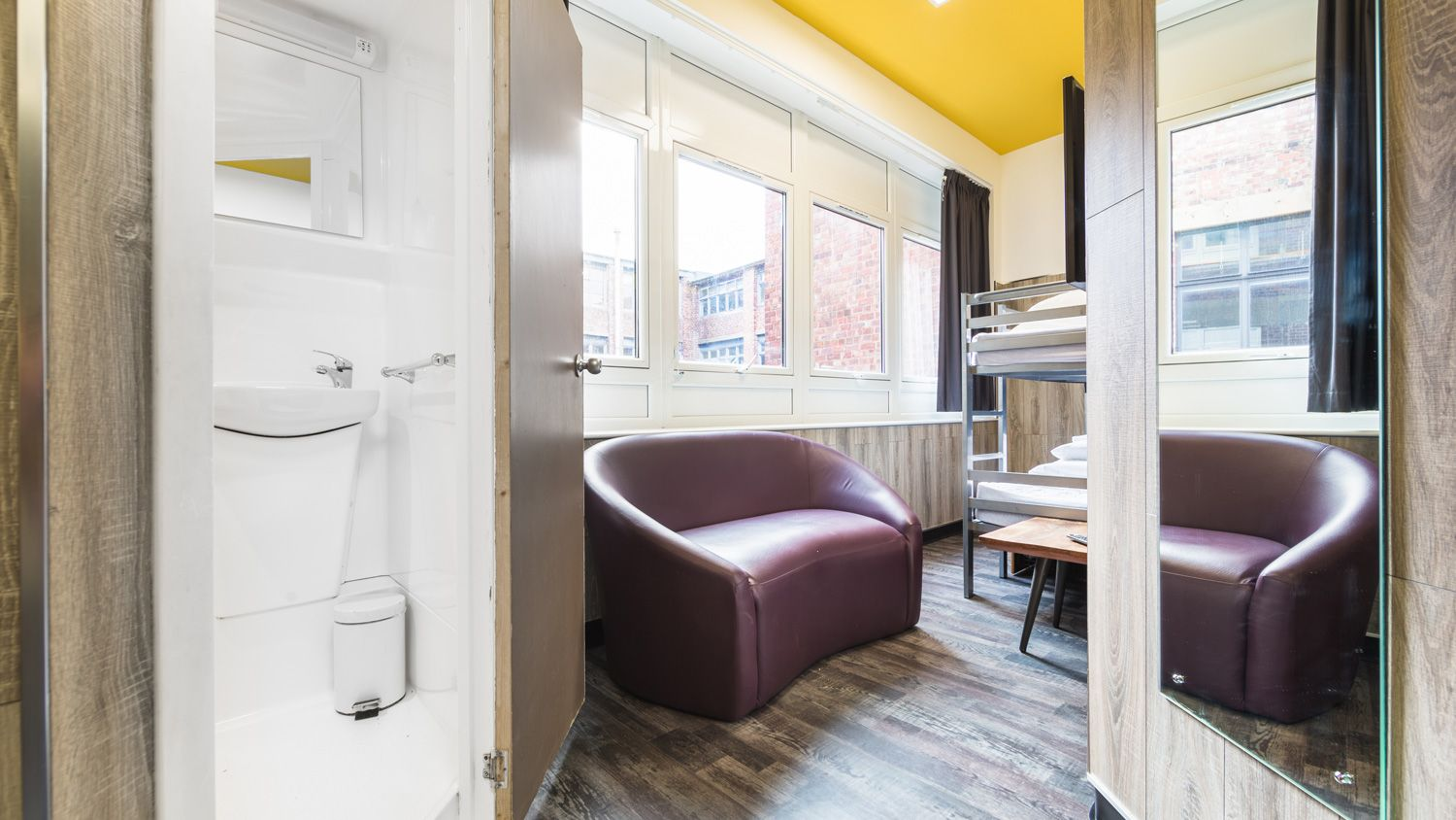 Bed in Shared Mixed Gender Dorm for 4 People at Euro Hostel Newcastle