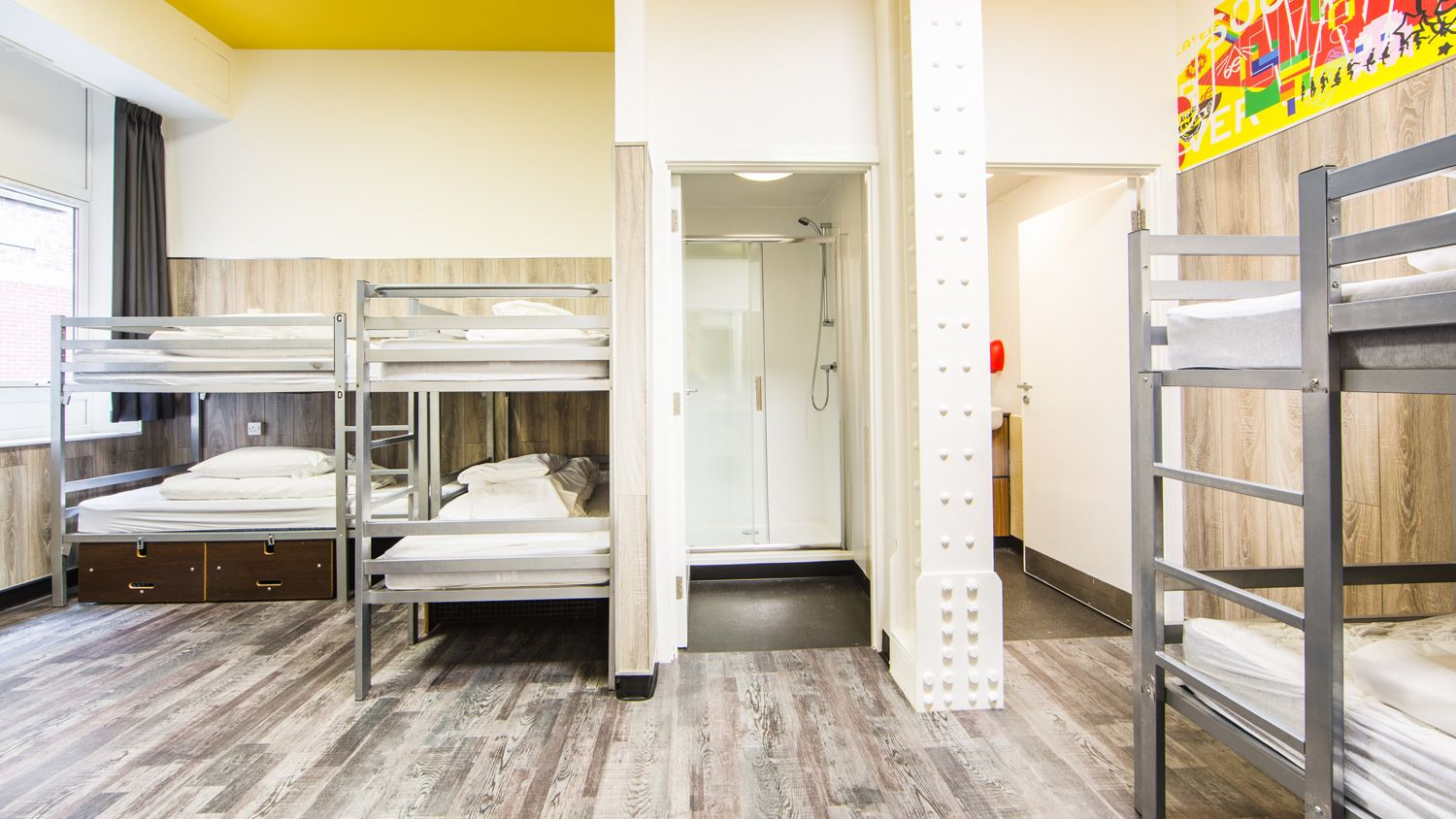 Shared Mixed Gender Dorm for 8 People at Euro Hostel Newcastle