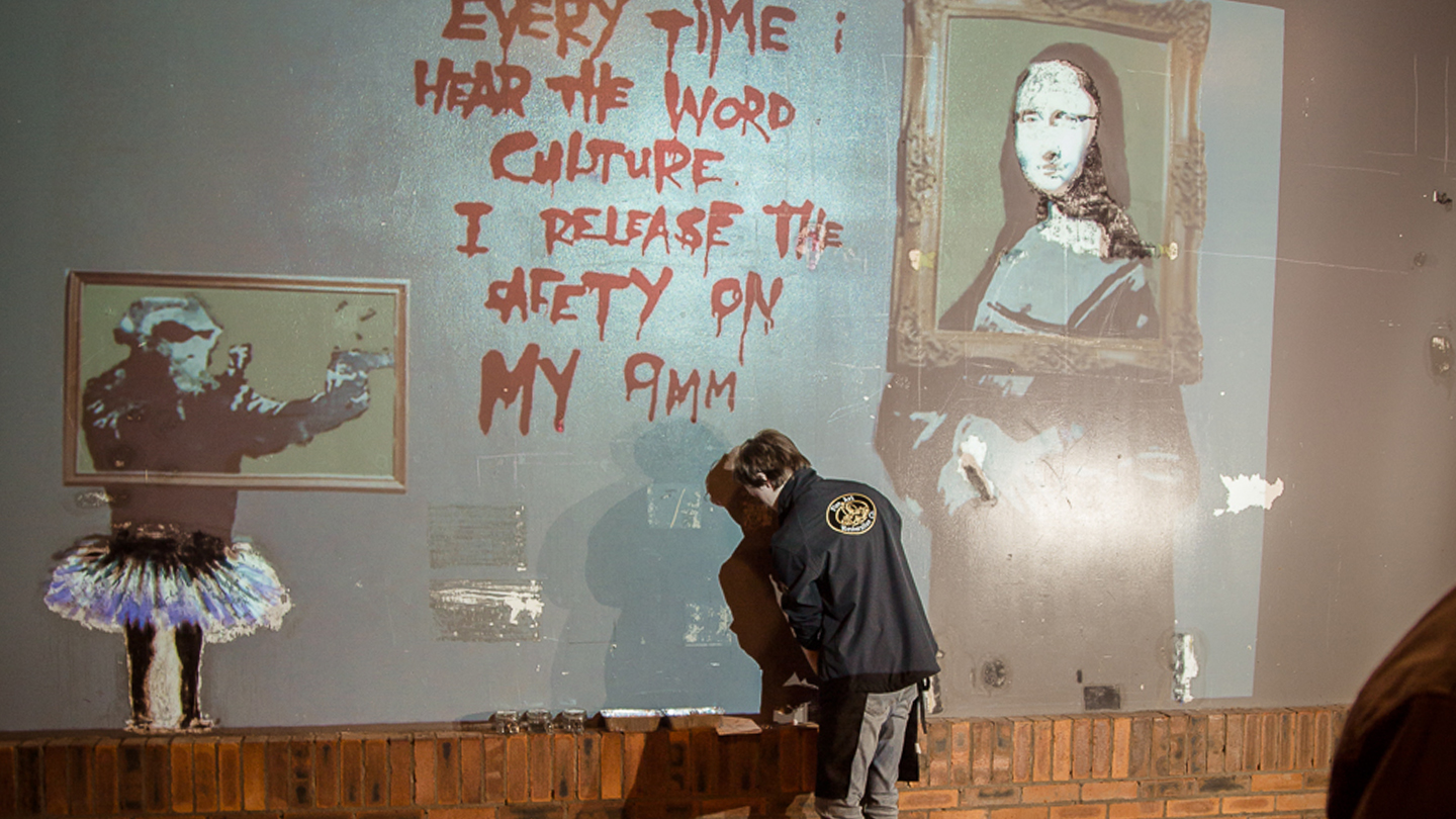 Banksy Restoration at Argyle Street Arches