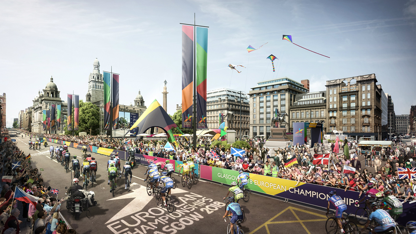 Artist impression of the European Championships Glasgow 2018
